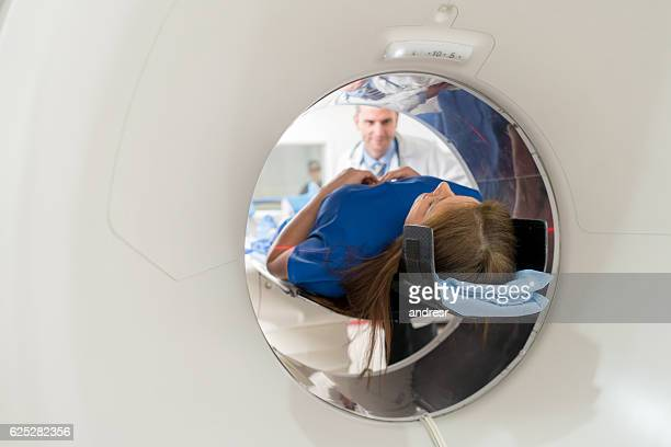 Patient getting a CT scan