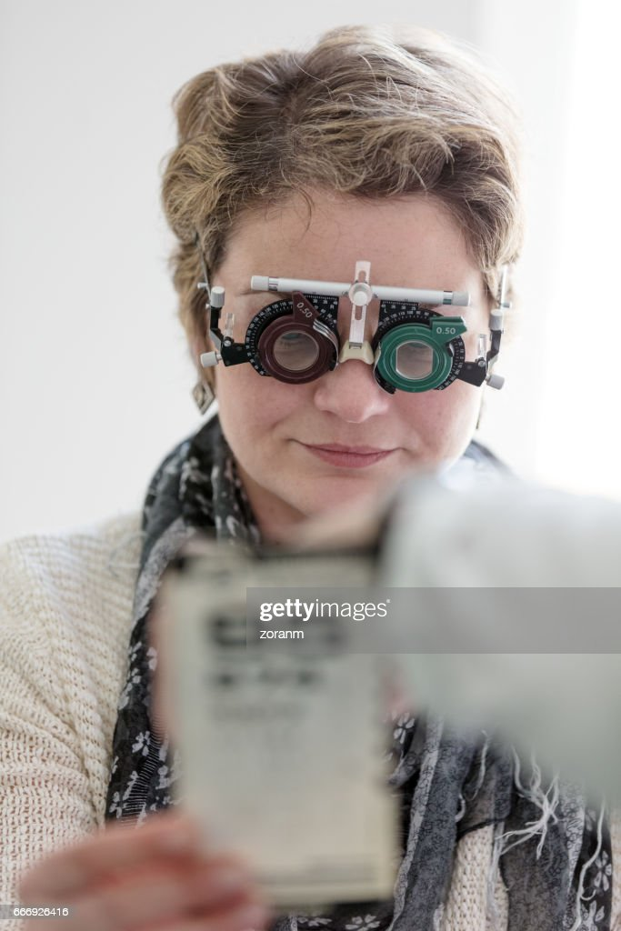 Patient Having Eye Examination Stock Photo - Getty Images