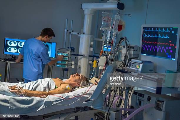 Patient in operating theatre