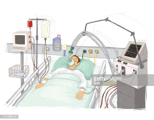 Patient in respiratory assistance intensive care