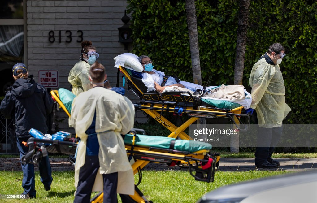Nursing home patients evavcuated after testing positive for coronavirus : News Photo