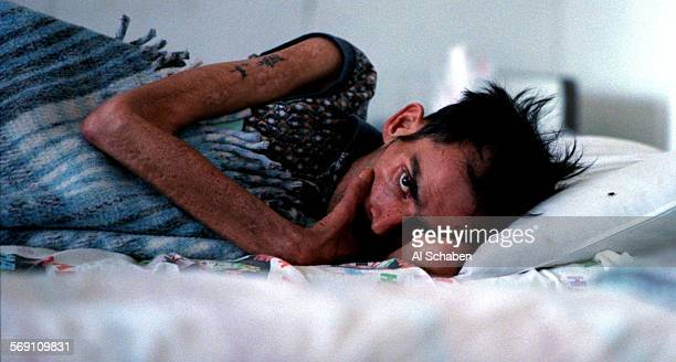 AIDS patient Joel Valtierra spends his final days under the care of volunteers at Casa Hogar Las Memorias a home in Tijuana where many AIDS patients...