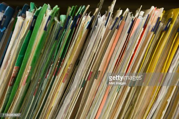patient medical files - filing documents stock pictures, royalty-free photos & images
