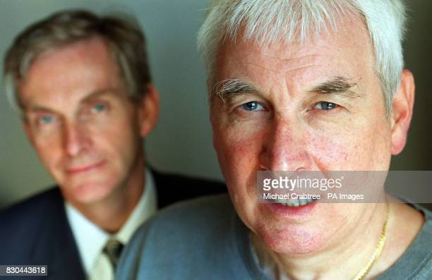Patient Mike Gale with Dr Mike Morgan of the department of Respiratory Medicine Glenfield Hospital in Leicester at the launch of a British Lung...