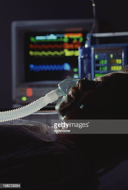 icu patient - patient on ventilator stock pictures, royalty-free photos & images