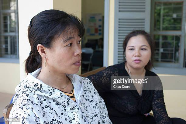 HIV patient Quach Thi Tuyet Mai left the head of Ban Giup Ban means You Help Youself club is at the An Duong District Health Center Hai Phong city...