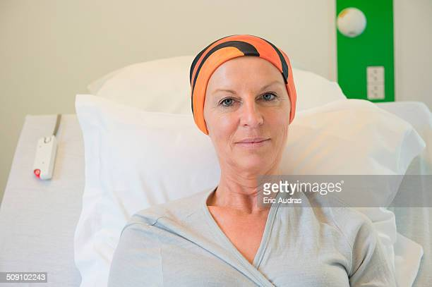 Patient receiving out-patient chemotherapy treatment