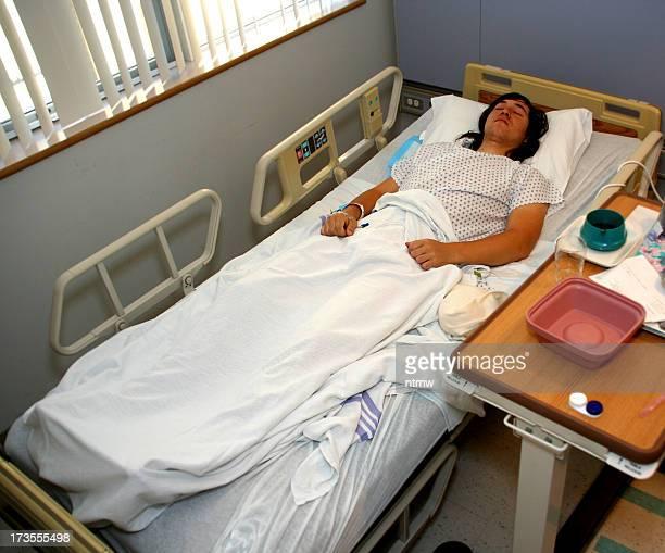 Patient und Schlafen