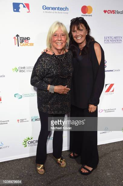 Patient Survivor Linnea Elliot and Christina Broccoli attend the sixth biennial Stand Up To Cancer telecast at the Barkar Hangar on Friday September...