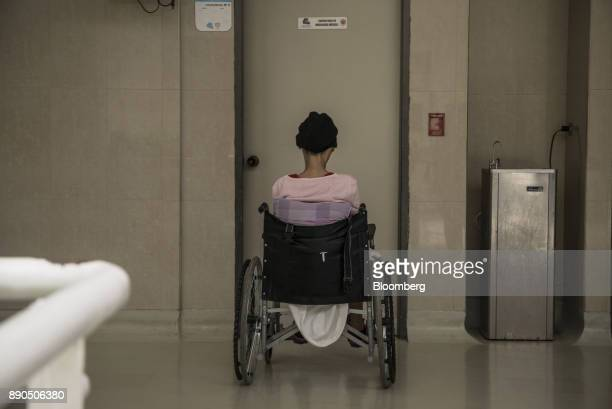 A patient waits for medical attention in the Oncology Unit of the Luis Razetti University Hospital in Barcelona Venezuela on Friday Aug 25 2017 The...