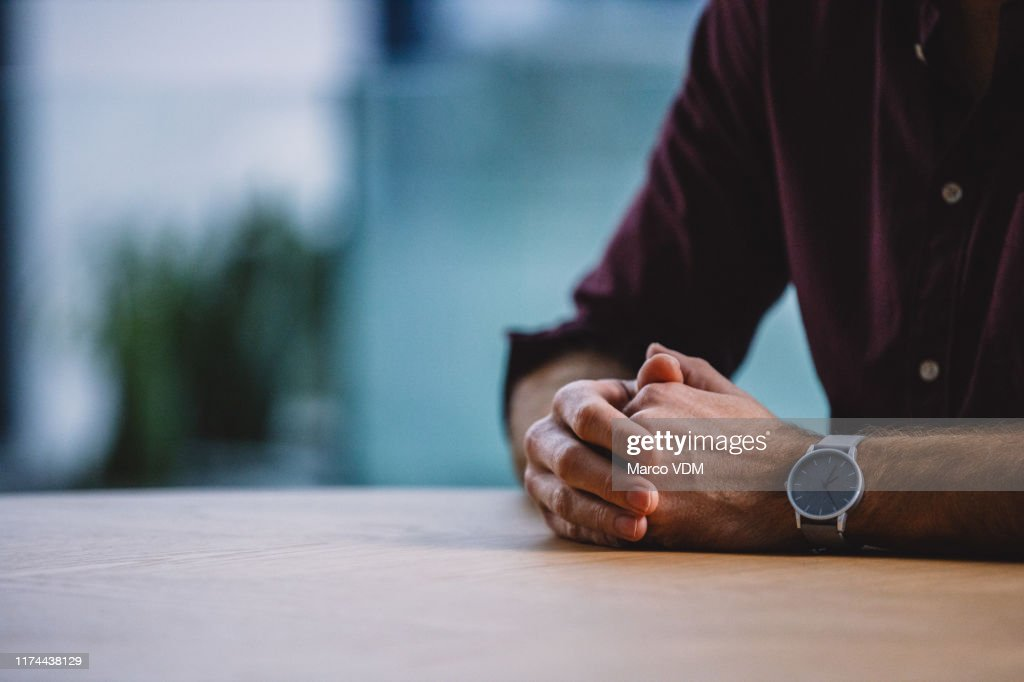 Patiently waiting for my interviewer : Stock Photo