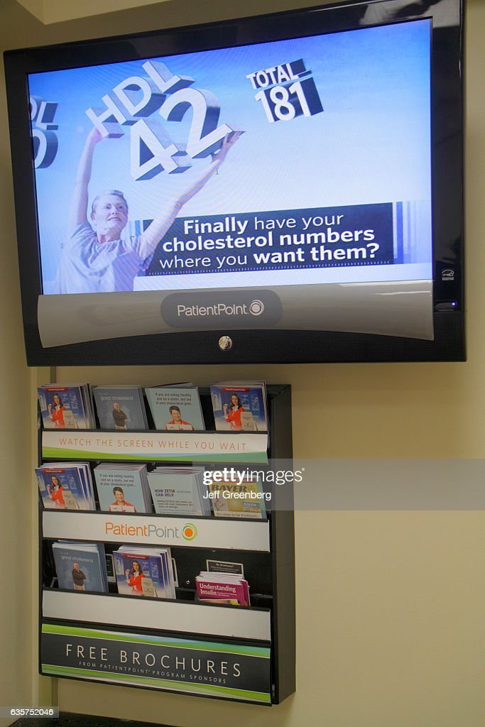 PatientPoint video monitor in the doctor's waiting room at