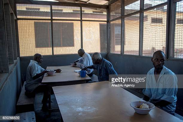 Patients are seen in the dinning hall at the Accra Psychiatric Hospital where the installations have not being renovated for decades in Accra Ghana...