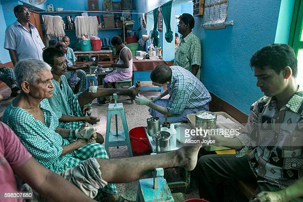 Patients are tended to at Gandhiji Prem Nevas Leprosy Centre run by the Missionaries of Charity August 31 2016 in Kolkata India The majority of...