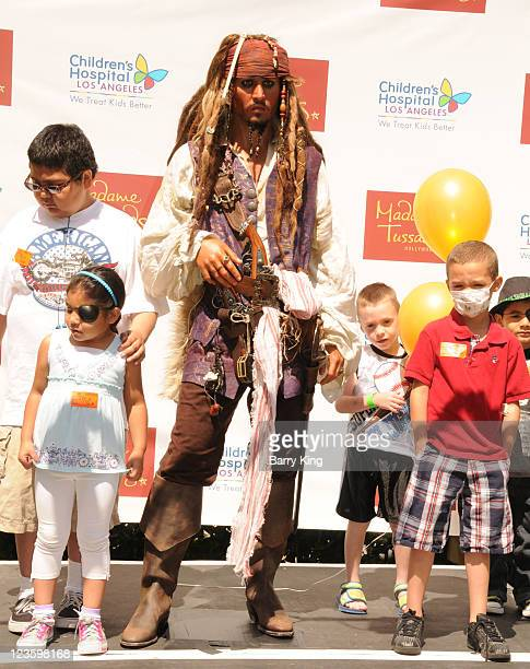 Patients at Children's Hospital Los Angeles Unveil Official $300000 Johnny Depp Disney 'Pirates Of The Caribbean' Figure at Children's Hospital Los...