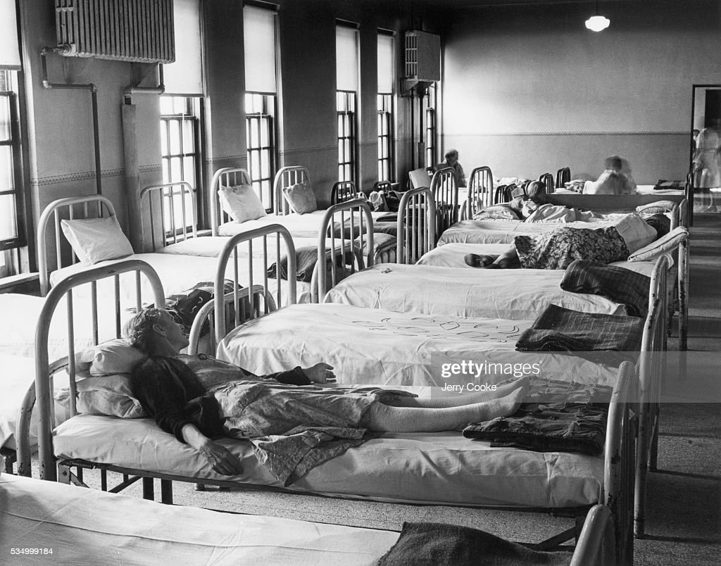 Patients' Beds in an Insane Asylum : News Photo