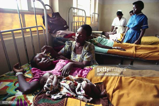 Patients Being Treated at Kitovu Hospital in Uganda