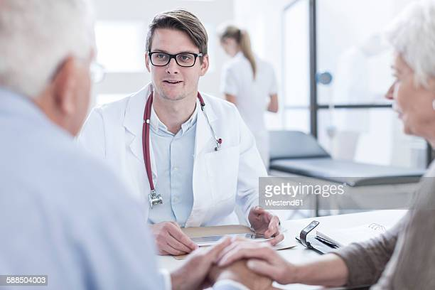 Patients consulting doctor
