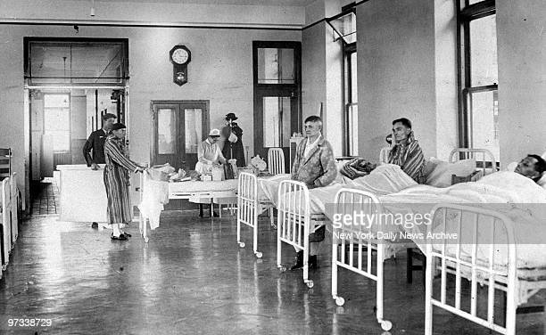 Patients in the new wing at Bellevue Hospital