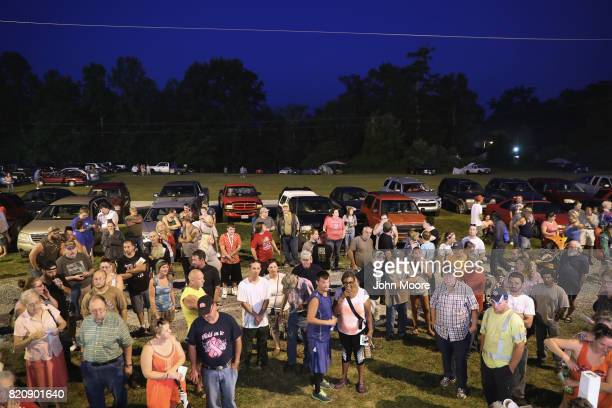 Patients wait in the early morning for healthcare services at a free clinic on July 22 2017 in Wise Virginia Hundreds of Appalachia residents slept...
