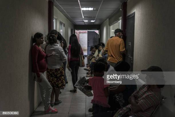 Patients wait in the hallway of a public hospital in Lechera Venezuela on Wednesday Aug 23 2017 The ruling party'slandslide victoryin municipal...