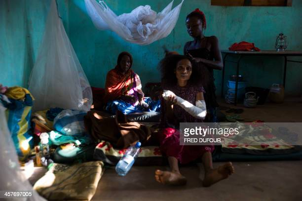 Patients wait in their room in the hospital run by by Médecins Sans Frontières in Bossangoa on December18 2013 Wrenched apart by sectarian violence...