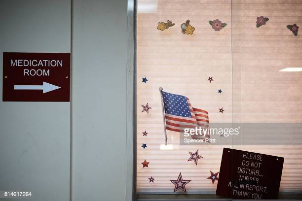 A patient's window at the Neil Kennedy Recovery Center on July 14 2017 in Youngstown Ohio One of the oldest recovery centers in the nation the Neil...