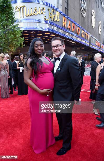 Patina Miller and David Mars attend the 2017 Tony Awards at Radio City Music Hall on June 11 2017 in New York City