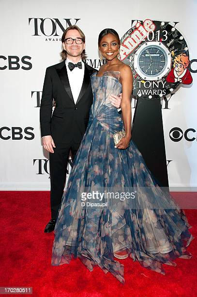 Patina Miller and David Mars attend the 67th Annual Tony Awards at Radio City Music Hall on June 9 2013 in New York City