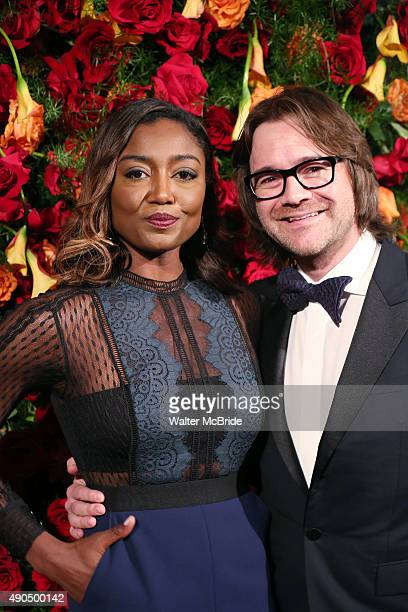Patina Miller and David Mars attend the American Theatre Wing honors James Earl Jones at the Plaza Hotel on September 28 2015 in New York City