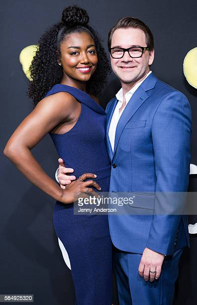 Patina Miller and husband David Mars attend Cats Broadway Opening at Neil Simon Theatre on July 31 2016 in New York City