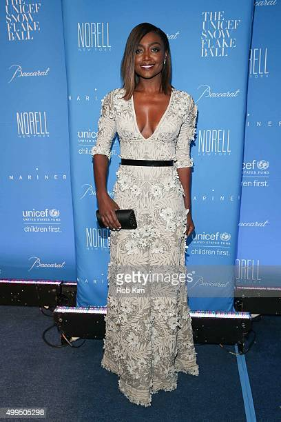 Patina Miller attends 2015 UNICEF Snowflake Ball at Cipriani Wall Street on December 1 2015 in New York City