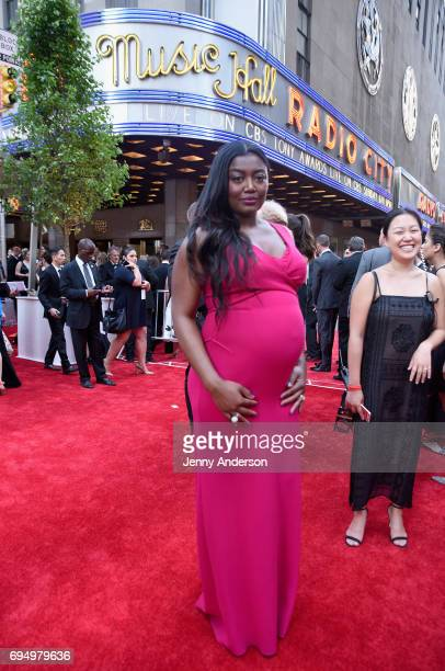 Patina Miller attends the 2017 Tony Awards at Radio City Music Hall on June 11 2017 in New York City