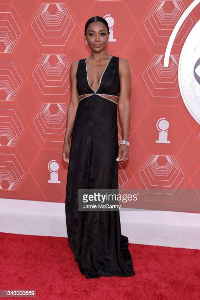 Patina Miller attends the 74th Annual Tony Awards at Winter Garden Theater on September 26, 2021 in New York City.