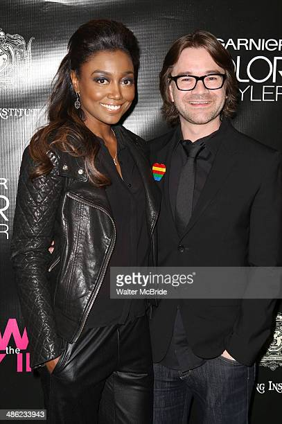 Patina Miller David Mars attend the Broadway opening night of Hedwig And The Angry Inch at the Belasco Theatre on April 22 2014 in New York City