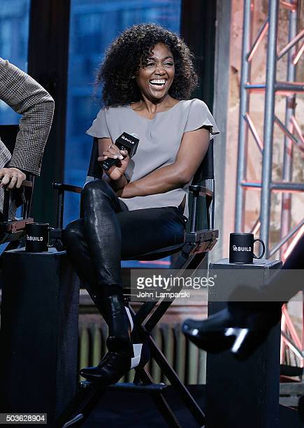 """Patina Miller of """"Madam Secretary"""" attend during the AOL Build speaker series at AOL Studios In New York on January 6, 2016 in New York City."""