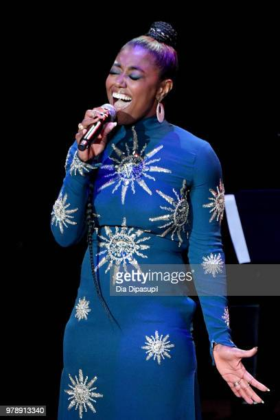Patina Miller performs onstage during Lincoln Center Corporate Fund's Stand Up Sing for the Arts at Alice Tully Hall on June 19 2018 in New York City