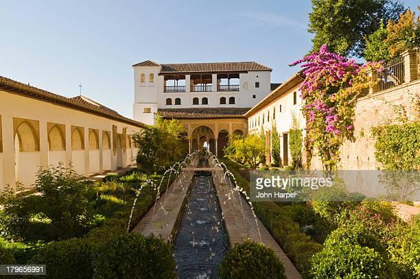 Patio de la Acequia, Alhambra Palace, Granada.