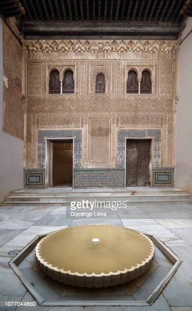 patio del mexuar in the alhambra of granada - granada spain landmark stock pictures, royalty-free photos & images