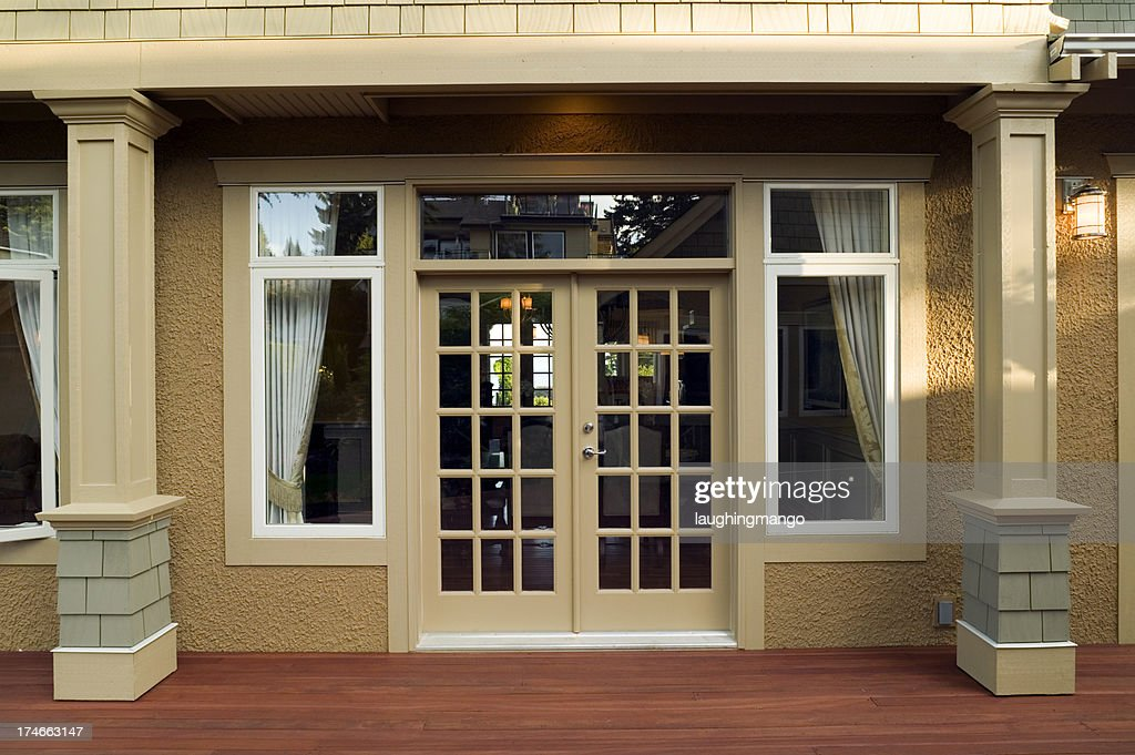 patio entrance home exterior & French Doors Stock Photos and Pictures | Getty Images