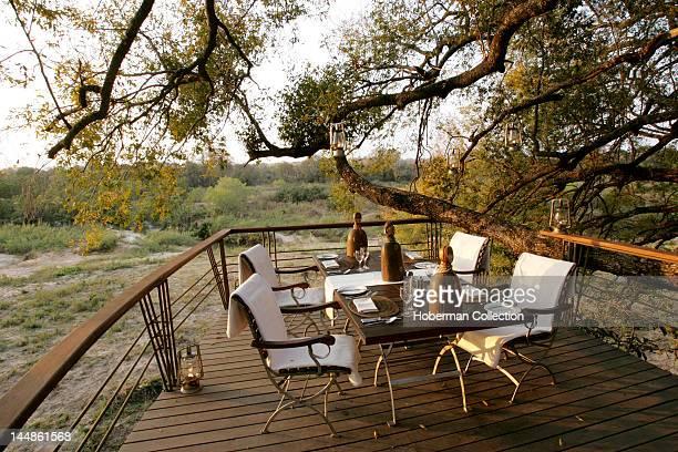 Patio Leadwood Private Safari Lodge Sabi Sabi Greater Kruger National Park Mpumalanga South Africa Africa