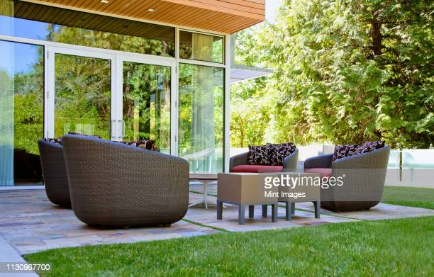 patio living room - furniture stock pictures, royalty-free photos & images