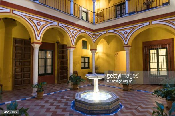 Patio of traditional house in Seville