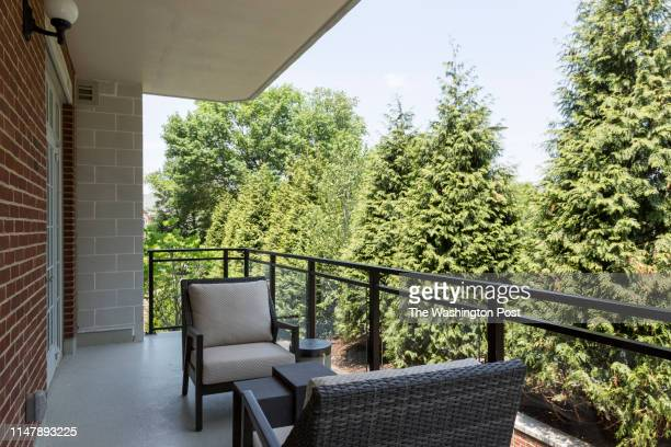 Patio on Unit 306 at The Signet on May 28 2019 in McLean Virginia