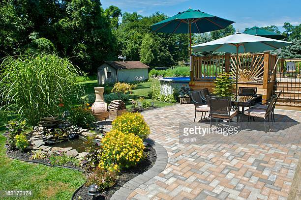 patio - standing water stock pictures, royalty-free photos & images