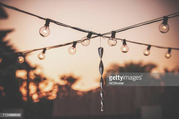 patio string lights - festival of remembrance 2019 stock photos and pictures