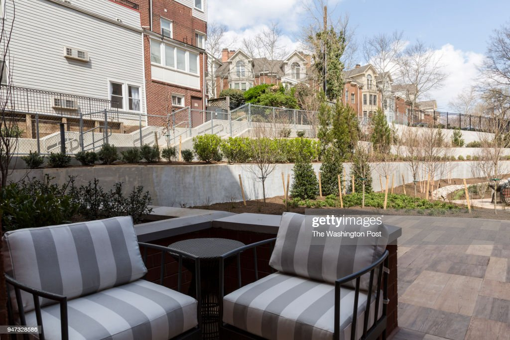 Patio That Opens To Common Area Outside The Model Unit At Key And Nash  Condominiums On