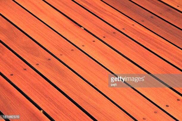 pation - bangkirai hardwood decking - pejft stock pictures, royalty-free photos & images