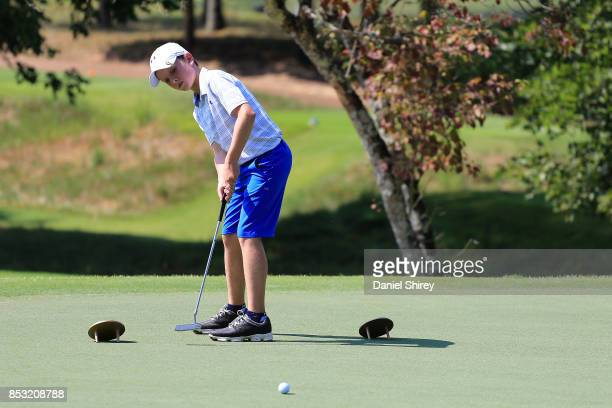 Patmon Malcom putts during the Drive Chip and Putt Championship at The Honors Course on September 24 2017 in Ooltewah Tennessee
