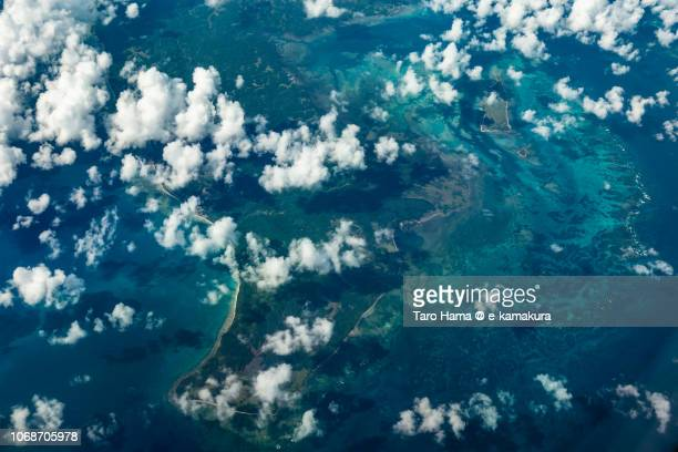 Patnanungan Island in Province of Quezon in Philippines daytime aerial view from airplane